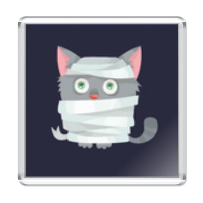 Магнит Кот мумия