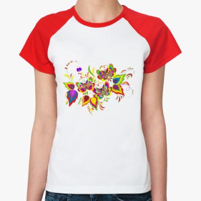 Женская футболка реглан flowers