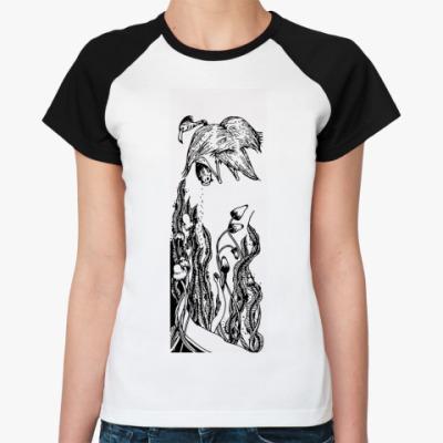 Женская футболка реглан  'Спи, моя радость'