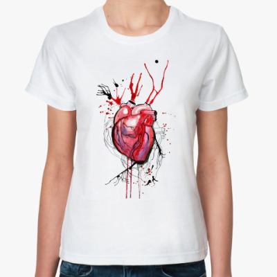 Классическая футболка Обнаженное сердце