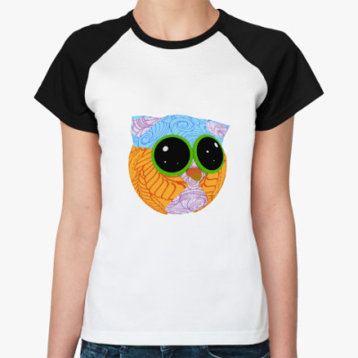 Женская футболка реглан Совушка