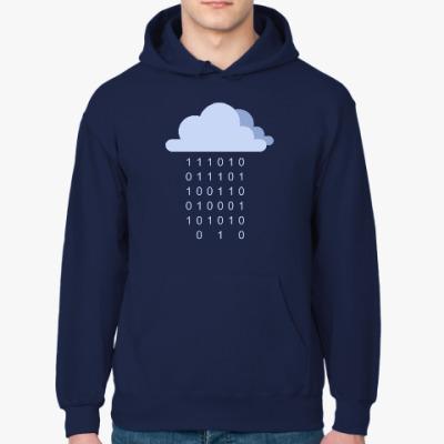 Толстовка худи Цифровой дождь