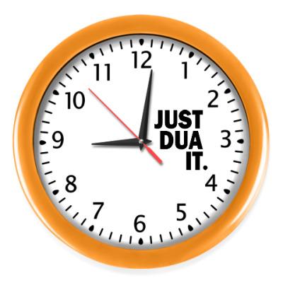 Настенные часы Часы, оранжевые (черные цифры)
