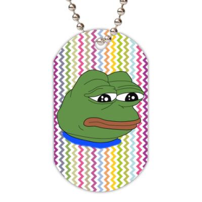 Жетон dog-tag Pepe Frog