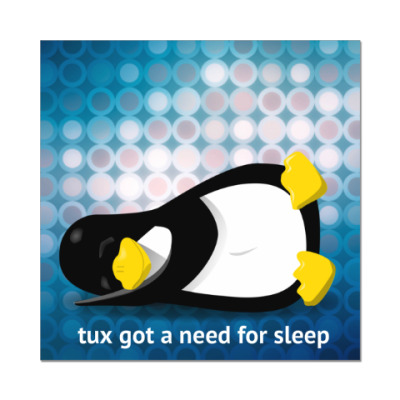 Tux got a need for sleep