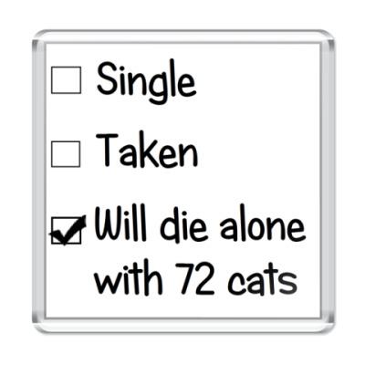 Магнит '72 кошки'
