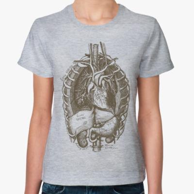 Женская футболка Внутренние органы