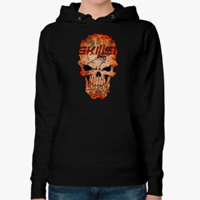 Женская толстовка худи Skillet Skull