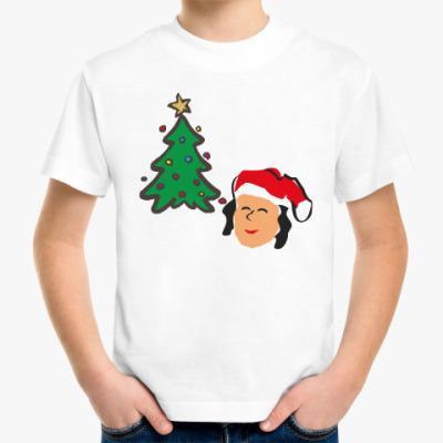 Детская футболка Веселая  Снегурочка