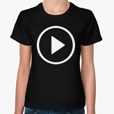 Женская футболка Кнопка Play