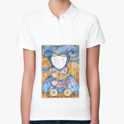 Женская рубашка поло Волшебница Котов