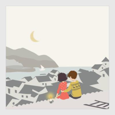 Постер влюблённая пара