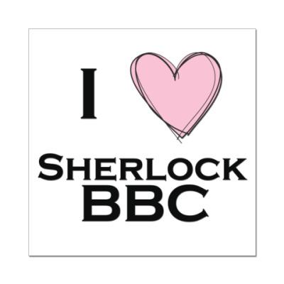 Наклейка (стикер) I love Sherlock