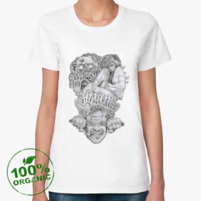 Женская футболка из органик-хлопка Insane Clothing