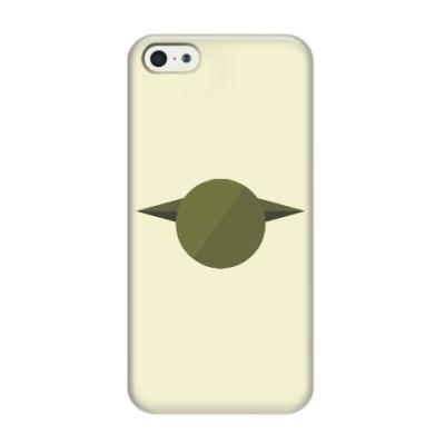 Чехол для iPhone 5/5s Магистр Йода (Yoda) минимализм