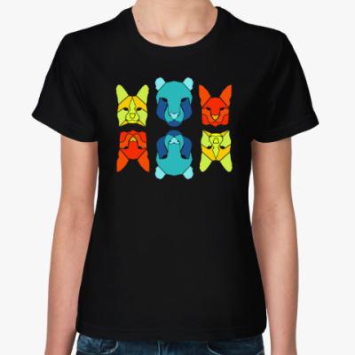 Женская футболка ЖИВОТНЫЕ ~ ANIMALS