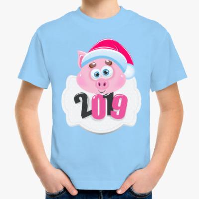 Детская футболка Год 2019 Свиньи