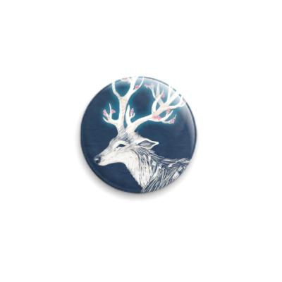 Значок 25мм Лесной олень