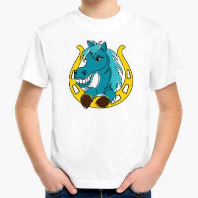 Детская футболка Лошадь и подкова