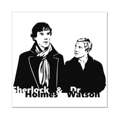 Наклейка (стикер) Шерлок Холмс и Доктор Ватсон