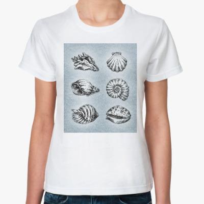 Классическая футболка Ракушки в цвете