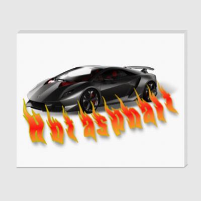 Холст Hot asphalt