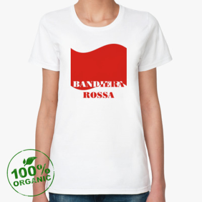 Женская футболка из органик-хлопка Красное знамя