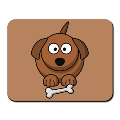 Коврик для мыши Собачка с косточкой