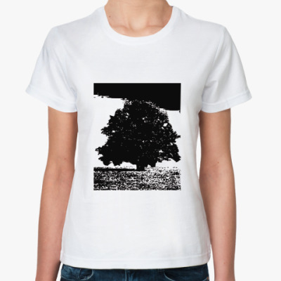 Классическая футболка дерево