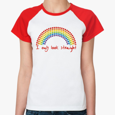 Женская футболка реглан Я только с виду такая