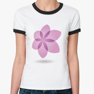 Женская футболка Ringer-T Цветок Лотоса