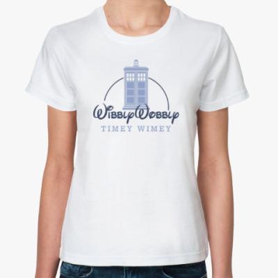 Классическая футболка Wibbly Wobbly Timey Wimey