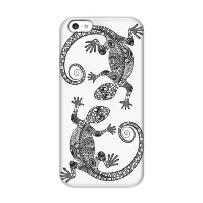 Чехол для iPhone 5c две ящерицы