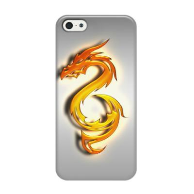 Чехол для iPhone 5/5s Огненный дракон