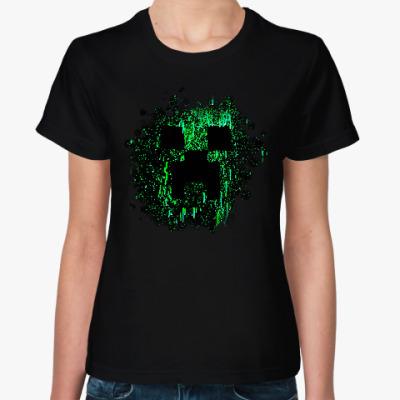 Женская футболка Minecraft Creeper