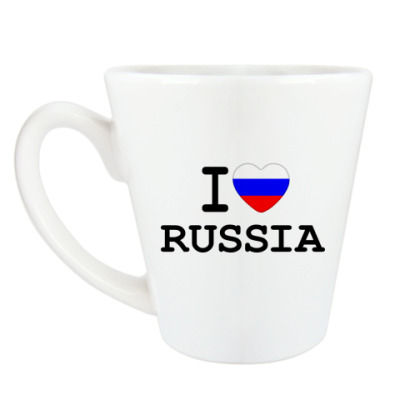 Чашка Латте I Love Russia