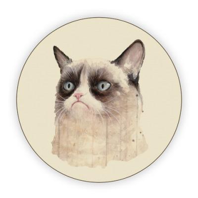 Костер (подставка под кружку) Grumpy Cat / Сердитый Кот