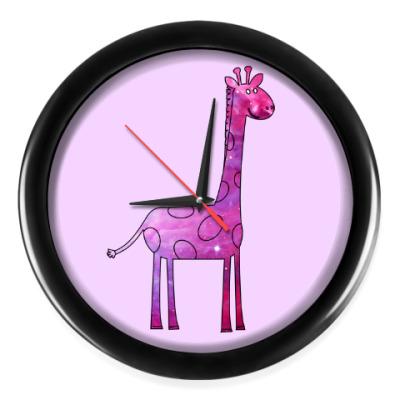 Настенные часы Космический Жираф