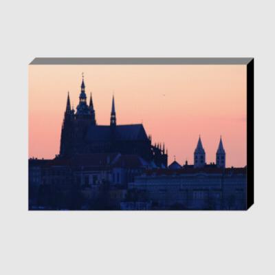 Холст Вечерняя Прага