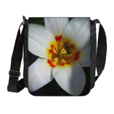 Сумка на плечо (мини-планшет) 'цветок'