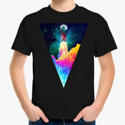 Детская футболка Запуск космического корабля