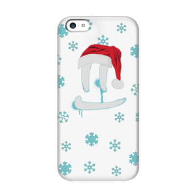 Чехол для iPhone 5c Светлая Новогодняя улыбка