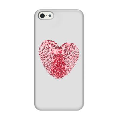 Чехол для iPhone 5/5s Отпечатки Любви