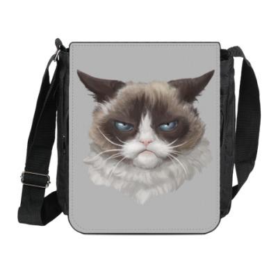 Сумка на плечо (мини-планшет) Grumpy Cat / Сердитый Кот