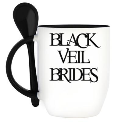 Кружка с ложкой Black Veil Brides