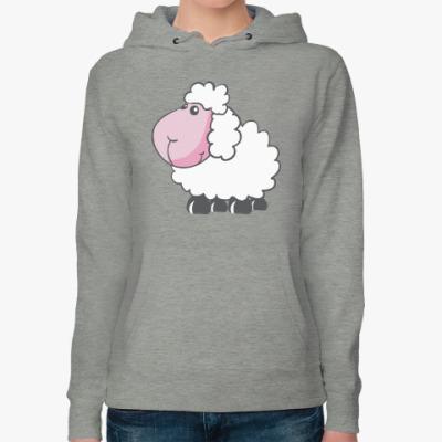 Женская толстовка худи С овечкой символом нового 2015 года
