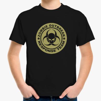 Детская футболка Zombie outbreak response team