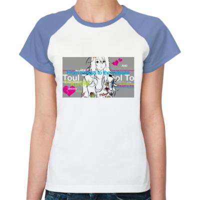 Женская футболка реглан Anime