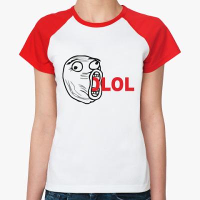 Женская футболка реглан LOL