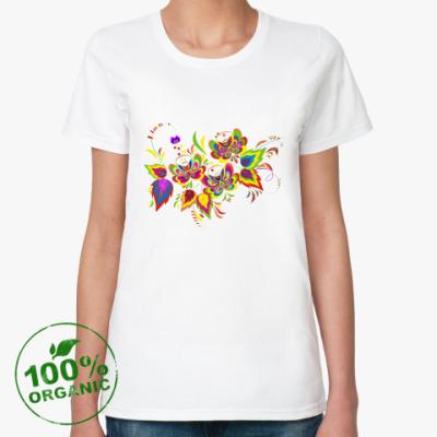 Женская футболка из органик-хлопка flowers